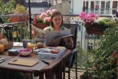 """Rašytoja Lina Ever Berlyne svečius stebina šaltibarščiais: """"Dėl intensyvios rožinės spalvos draugai juos vadina Barbės sriuba"""""""